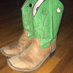 Old West Square Toed Cowboy Boots~size 3